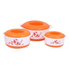 Milton 3 Pieces Hot Pot Set - White and Orange