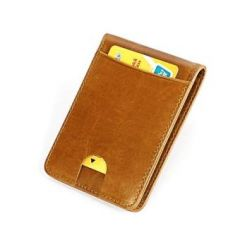 New PU Leather Men's Wallet Clip Mini fashion Card Bag Card Holder,Card Leather Wallet Pickup Package Screens Certificate Package Ultra-thin Zero Wallet