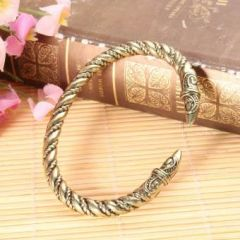 Men's Large Bangles Retro Style Antique Handmade Vintage Viking Jewelry Bracelet
