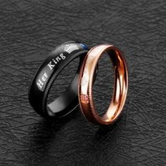 Men's Women's Fashion Couple Jewelry Finger Ring with Free Gift Box